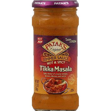 Patak's Original Hot & Spicy Tikka Masala Simmer Sauce, 12.3 oz, (Pack of 6)