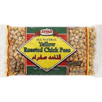 Ziyad Brand Yellow Roasted Chick Peas, 12 oz, (Pack of 6)