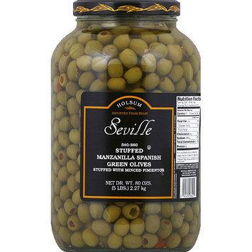 Dot Foods Seville Stuffed Manzanilla Spanish Green Olives, 5 lbs, (Pack of 4)