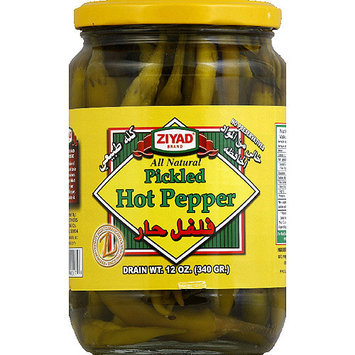 Ziyad Pickled Hot Peppers, 12 oz, (Pack of 6)