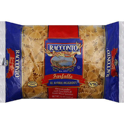 Racconto Farfalle Pasta, 12 oz, (Pack of 20)
