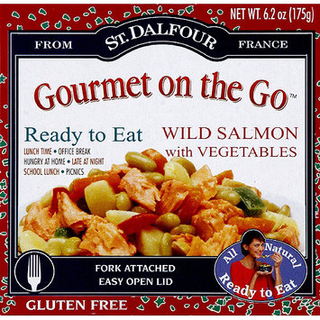 Gourmet To Go St. Dalfour Gourmet on the Go Wild Salmon with Vegetables, 6.2 oz, (Pack of 6)