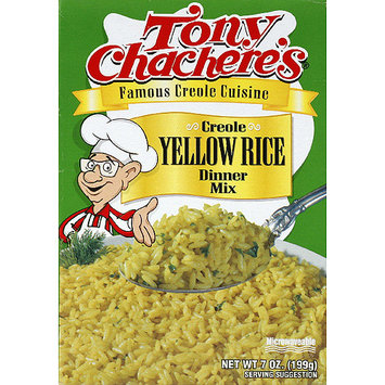 Tony Chachere's Creole Yellow Rice Dinner Mix, 7 oz, (Pack of 12)