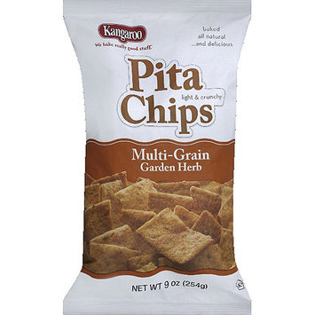 Kangaroo Multi-Grain Garden Herb Pita Chips, 9 oz, (Pack of 12)