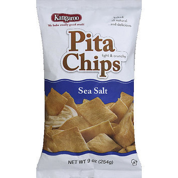 Kangaroo Sea Salt Pita Chips, 9 oz, (Pack of 12)