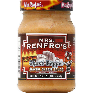 Mrs. Renfro's Ghost Pepper Scary Hot Nacho Cheese Sauce, 16 oz, (Pack of 6)
