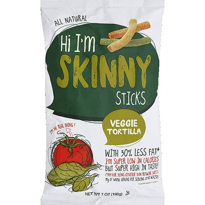 Cornfields Hi I'm Skinny Sticks Veggie Tortilla, 7 oz, (Pack of 12)