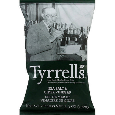 Tyrrell's Sea Salt & Cider Vinegar Potato Chips, 5.3 oz, (Pack of 12)