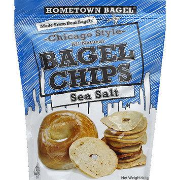 Hometown Bagel Chicago Style All Natural Sea Salt Bagel Chips, 6 oz, (Pack of 12)