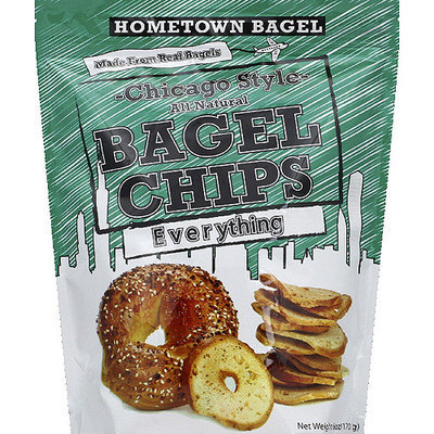 Hometown Bagel Chicago Style All Natural Everything Bagel Chips, 6 oz, (Pack of 12)