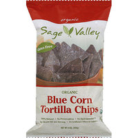 Sage Valley Organic Blue Corn Tortilla Chips, 9 oz, (Pack of 12)