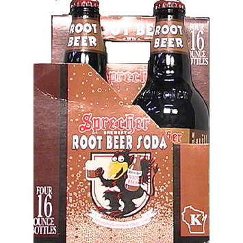 Sprecher Brewery Root Beer Gourmet Soda, 64 fl oz, (Pack of 6)