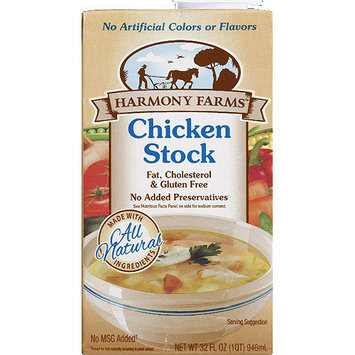 Harmony Farms Chicken Stock, 32 fl oz, (Pack of 12)