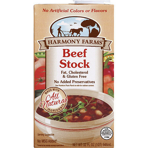 Harmony Farms Beef Stock, 32 fl oz, (Pack of 12)