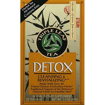 Triple Leaf Tea Detox Herbal Dietary Supplement Tea Bags, 1.4 oz, (Pack of 6)