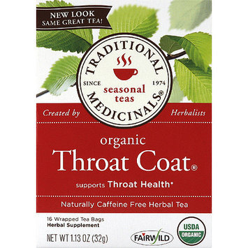 Traditional Medicinals Organic Throat Coat Caffeine Free Herbal Tea, 1.13 oz, (Pack of 6)