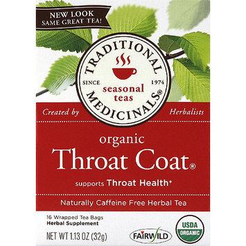 Traditional Medicinals Organic Throat Coat Caffeine Free Herbal Tea, 1.13 oz, (Pack of 6)