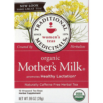 Traditional Medicinals Organic Mother's Milk Herbal Supplement Tea Bags, 0.99 oz, (Pack of 6)