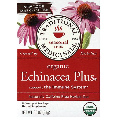 Traditional Medicinals Organic Echinacea Plus Caffeine Free Herbal Tea, 0.85 oz, (Pack of 6)