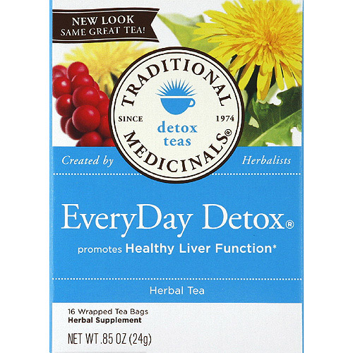 Traditional Medicinals EveryDay Detox Herbal Supplement Tea Bags, 0.85 oz, (Pack of 6)