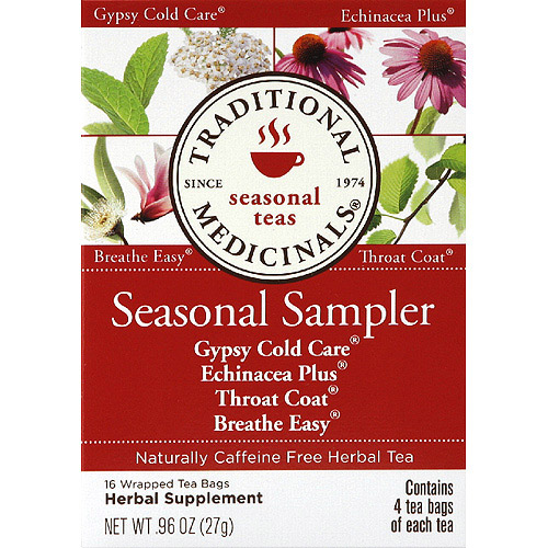 Traditional Medicinals Seasonal Sampler Herbal Tea Bags, 16 count, (Pack of 6)