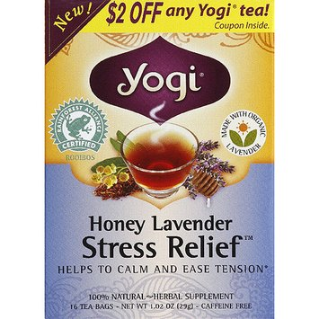 Yogi Tea Yogi Honey Lavender Stress Relief Tea Bags, 16 count, (Pack of 6)