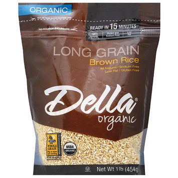 Della Gourmet Della Organic Long Grain Brown Rice, 16 oz, (Pack of 6)