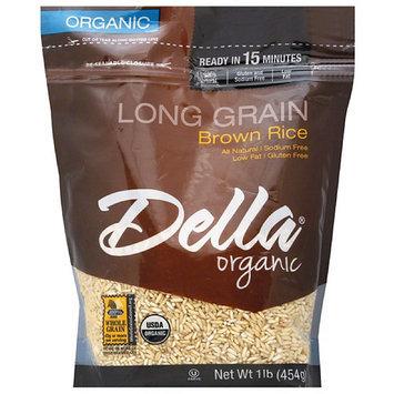 Della Gourmet Della Organic Long Grain Brown Rice, 16 oz, (Pack of 6)