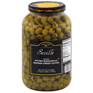 Dot Foods Holsum Seville Pitted Manzanilla Spanish Green Olives, 66 oz, (Pack of 4)