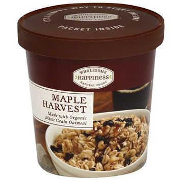 Dr. Mcdougall's Wholesome Happiness Maple Harvest Oatmeal, 2.9 oz, (Pack of 6)