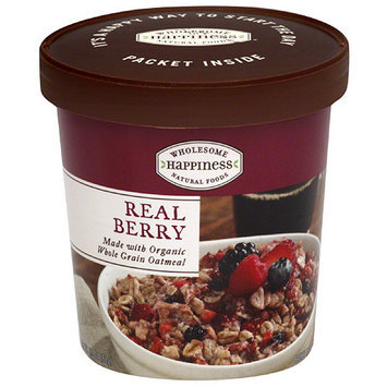 Dr. Mcdougall's Wholesome Happiness Real Berry Oatmeal, 2.3 oz, (Pack of 6)