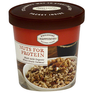 Dr. Mcdougall's Wholesome Happiness Natural Foods Nuts for Protein Oatmeal, 2.6 oz, (Pack of 6)