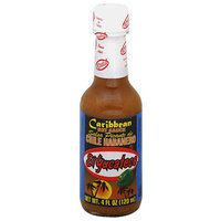 El Yucateco Chile Habanero Caribbean Hot Sauce, 4 fl oz, (Pack of 12)