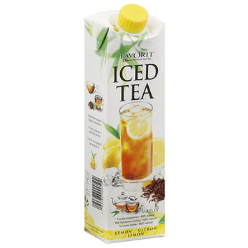 Favorit Lemon Iced Tea, 33.8 fl oz, (Pack of 6)