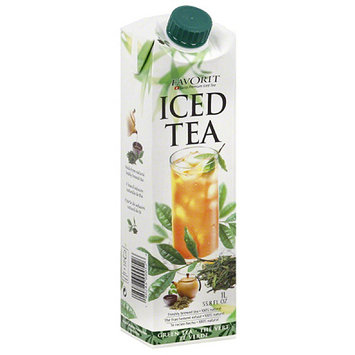 Favorit Green Tea Iced Tea, 33.8 fl oz, (Pack of 6)