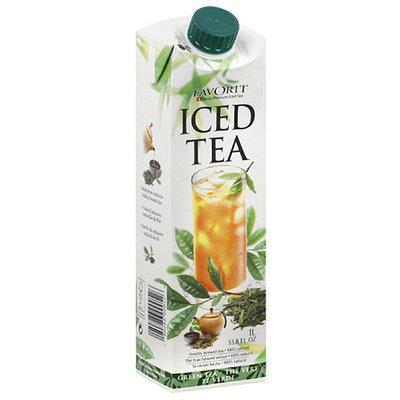 Favorit Green Tea Iced Tea, 33.8 fl oz, (Pack of 6)