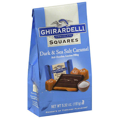 Ghirardelli Dark & Sea Salt Caramel Chocolate Squares
