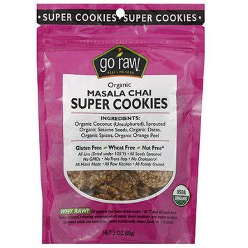 Go Raw Organic Masala Chai Super Cookies, 3 oz, (Pack of 12)