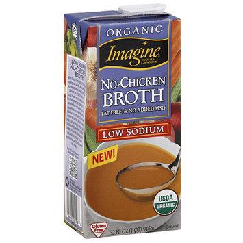 Imagine Organic Low Sodium No-Chicken Broth, 32 fl oz, (Pack of 12)