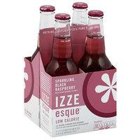 Izze Beverage IZZE Esque Sparkling Black Raspberry Flavored Juice Beverage, 48 fl oz, (Pack of 6)