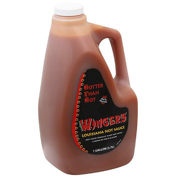 Kerry Food Wingers Louisiana Hot Sauce, 1 gal, (Pack of 4)