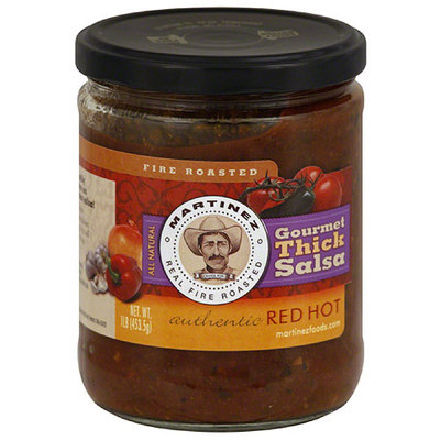 Martinez Gourmet Thick Red Hot Salsa, 16 oz, (Pack of 6)