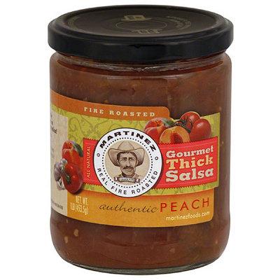 Martinez Gourmet Thick Peach Salsa, 16 oz, (Pack of 6)