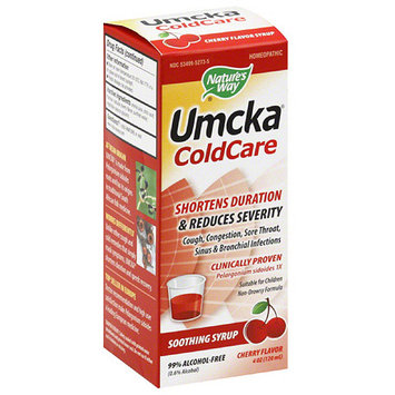 Nature's Way Umcka ColdCare Cherry Flavor Soothing Syrup, 4 fl oz