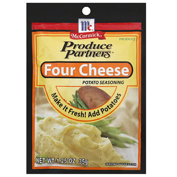 Produce Partners Four Cheese Potato Seasoning, 1.25 oz, (Pack of 12)