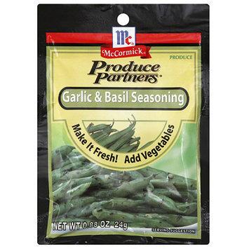 Produce Partners Garlic & Basil Seasoning, 0.88 oz, (Pack of 12)