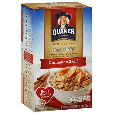 Quaker Cinnamon Swirl Instant Oatmeal