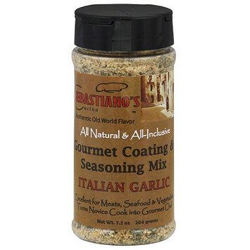 Sebastiano's Cucina Italian Garlic Gourmet Coating Rub & Multi-Purpose Seasoning Mix, 7.2 oz, (Pack of 6)