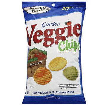 Sensible Portions Sea Salt Garden Veggie Chips, 5 oz, (Pack of 12)