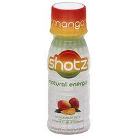 Shotz Natural Energy Mango Vitamin Supplement, 2.5 fl oz, (Pack of 12)